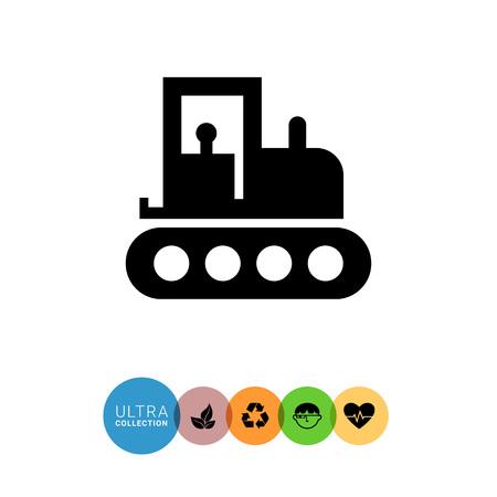 web crawler: Tractor icon Illustration