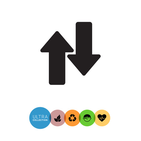 uptrend: Icon of upwards and downwards arrows