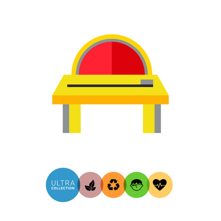 industrial machine: Multicolored vector icon of industrial equipment. Woodsawing machine