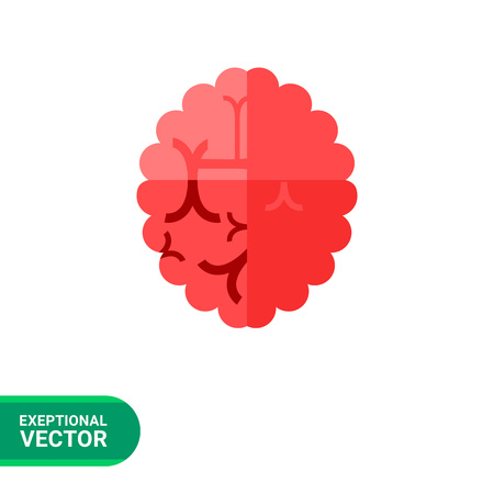 aging brain: Alzheimer icon. Multicolored vector illustration of brain with some changes caused Alzheimer disease Illustration