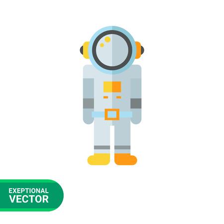 spacesuit: Multicolored vector icon of astronaut in spacesuit Illustration