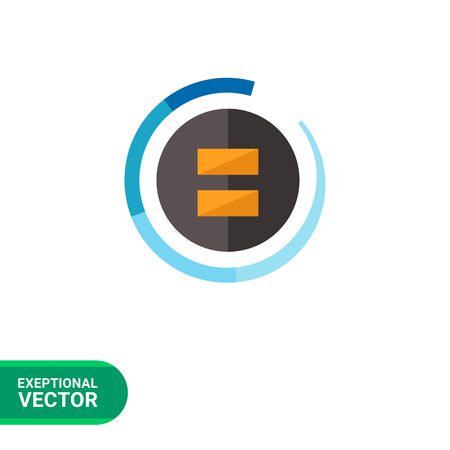 fader: Multicolored vector icon of stylized black fader Illustration