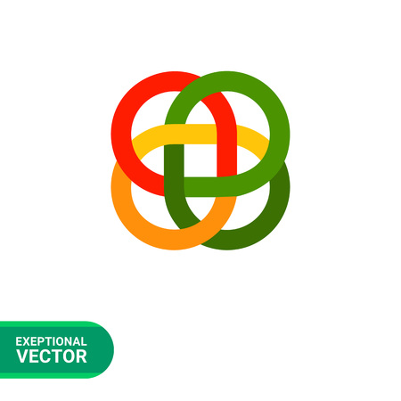 loop: Multicolored vector icon of loop Celtic ornament Vectores