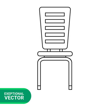 pieces of furniture: Chair vector icon. Line illustration of modern chair
