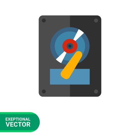 record player: Multicolored vector icon ofdeejay vinyl record player