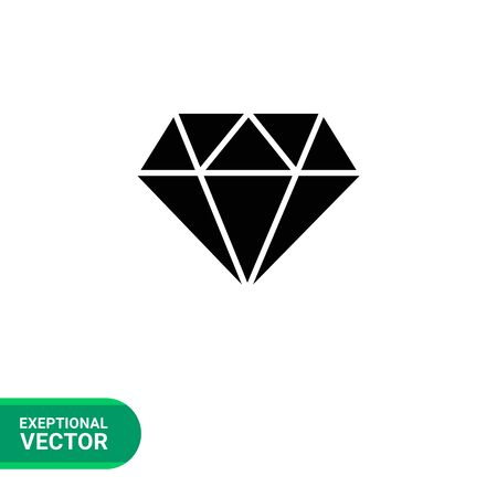 carat: Vector icon of diamond with round cut Illustration