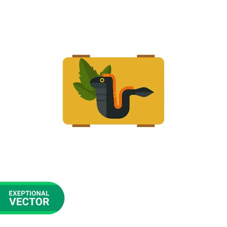 eel: Multicolored vector icon of grilled eel served on board Illustration