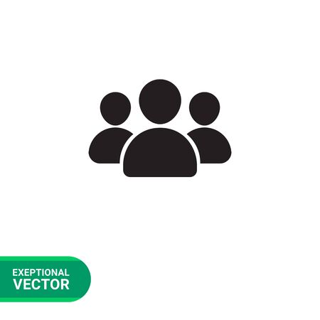 small people: Vector icon of small group of people silhouettes