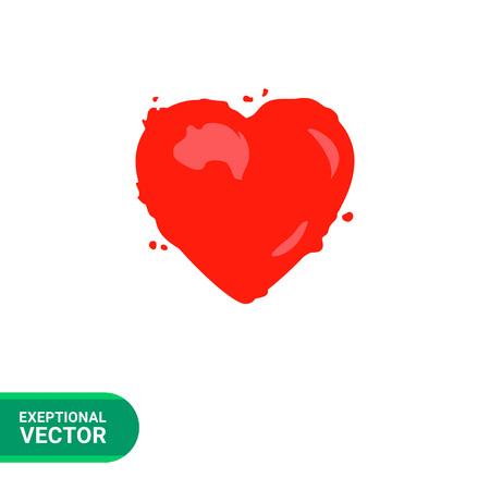 internal organ: Heart vector icon. Multicolored illustration of human heart, internal organ