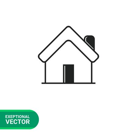 homepage: Icon of house, homepage symbol, outline Illustration