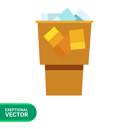 vivacity: Icon of coffee with ice cubes in yellow plastic cup