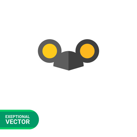 black cap: Vector icon of black cap with mouse ears