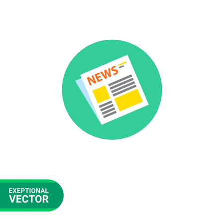 folded newspaper: Icon of folded newspaper