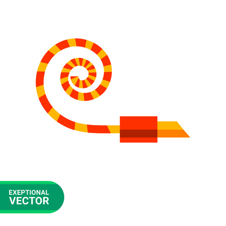 party horn blower: Multicolored vector icon of noisemaker blower horn