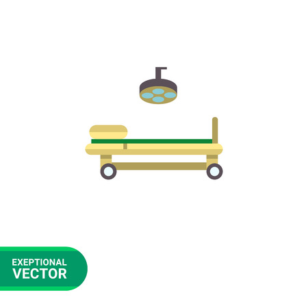 swivel: Multicolored vector icon of operating table and lamp Illustration