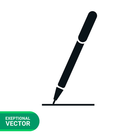 signing papers: Icon of  pen drawing line