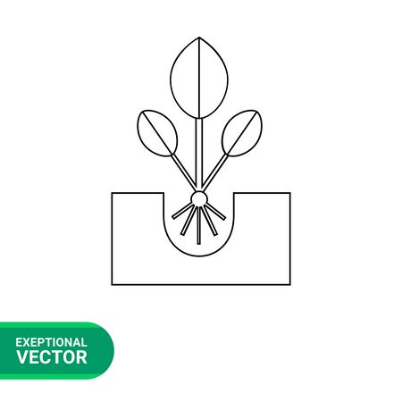 plant growing: Plant sprout icon. Vector illustration of plant growing Illustration