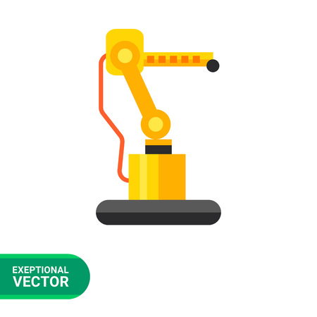 manipulating: Multicolored vector icon of manipulating industrial robot hand
