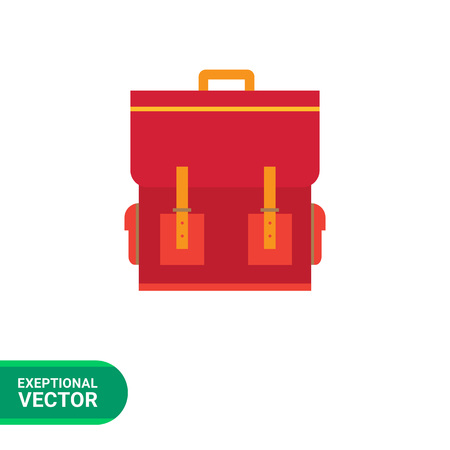schoolbag: Red schoolbag icon
