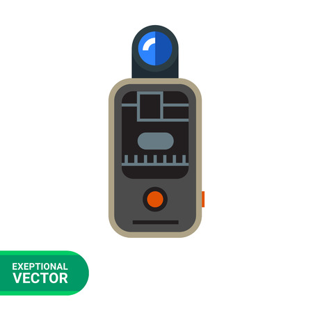 trigger: Vector icon of camera remote flash trigger