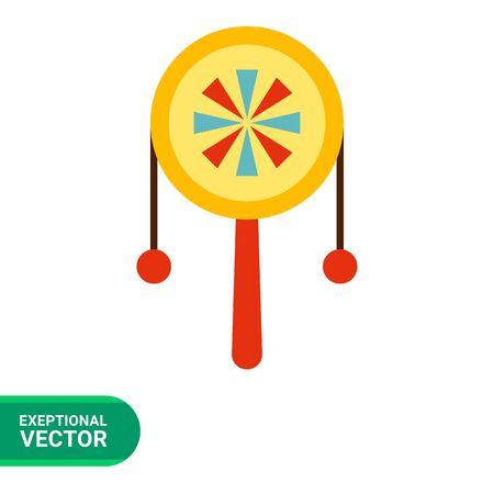 beanbag: Multicolored vector icon of retro beanbag Illustration