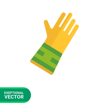protective glove: Icon of protective rubber glove