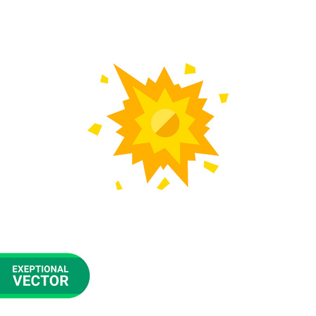 smashed: Multicolored vector icon of smashed spot with splashes Illustration