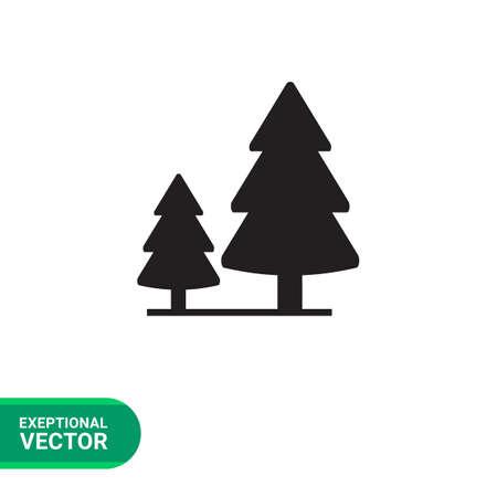 2 つのモミの木と木製看板のベクトルのアイコン 写真素材 - 60429922