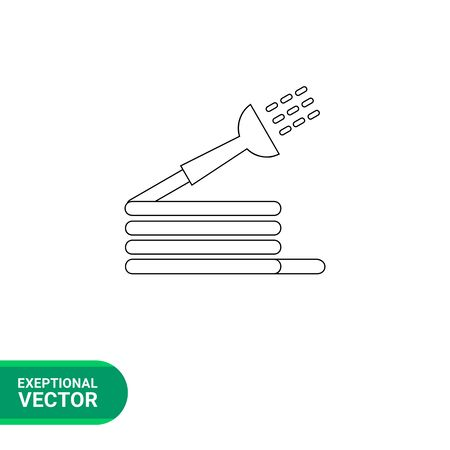 coiled: Spray hose icon. Vector illustration of  hose used for watering and irrigation Illustration