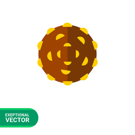 Staphylococci icon. Multicolored vector illustration of gram-positive bacterium caused many infections Illustration