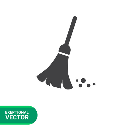 tidy: Sweeping broom icon