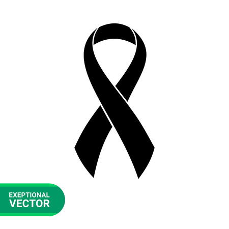 Syndrome symbol simple icon. Black vector illustration of awareness ribbon