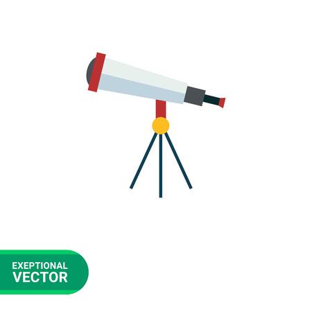 Multicolores icône vecteur de télescope optique Vecteurs