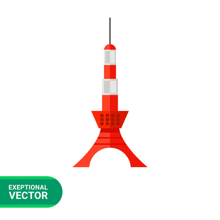 on the lookout: Image of Japanese tower Tokyo Skytree painted in red and white