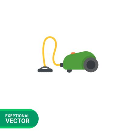 tidy: Icon of green vacuum cleaner