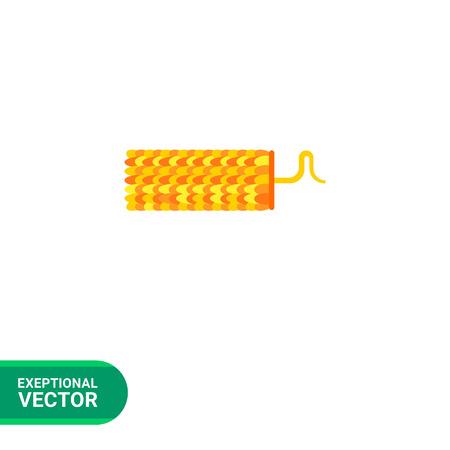 mottling: Tobacco mosaic virus flat icon. Multicolored vector illustration of virus caused plant diseases