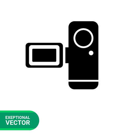 home video camera: Video camera icon Illustration