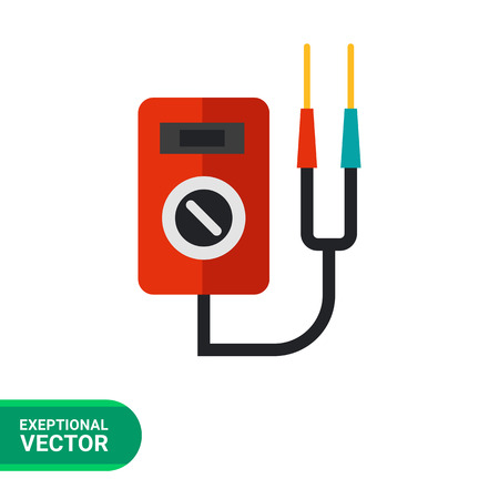 impedance: Multicolored vector icon of multi functional voltage indicator