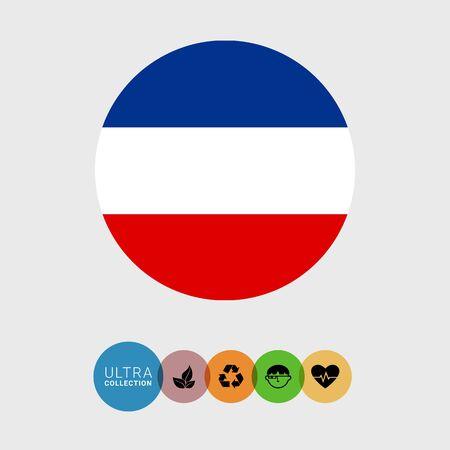 slavic: Set of vector icons with Slavic flag