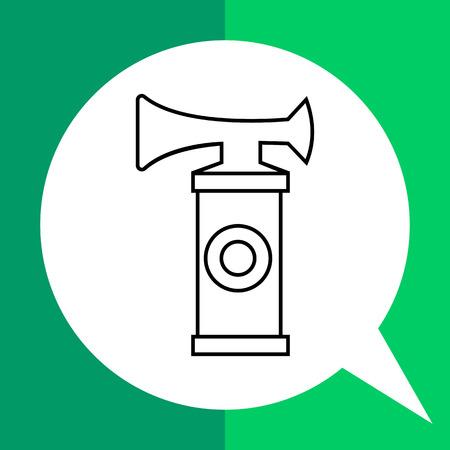 sport fan: Air horn flat icon. Line illustration of sport fan horn