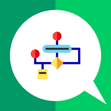 the topics: Stylized flowchart. Programming, planning, structure. Algorithm concept. Can be used for topics like business, management, analyzing, programming. Illustration
