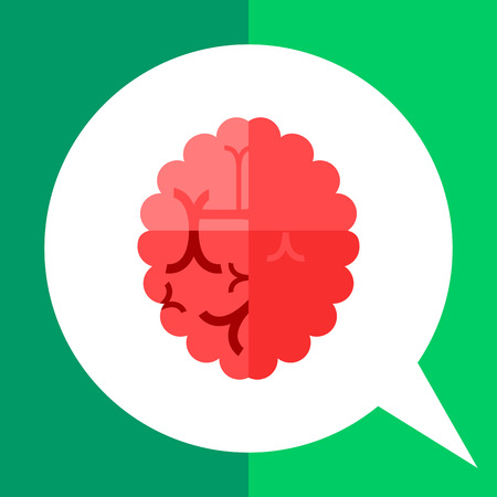 Alzheimer icon. Multicolored vector illustration of brain with some changes caused Alzheimer disease Illustration