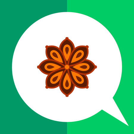 anise: Multicolored vector icon of anise star flower