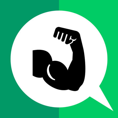 biceps: Vector icon of man arm silhouette showing biceps muscle