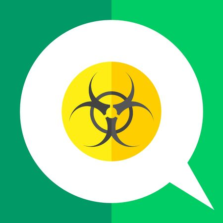 the bacteria signal: Biohazard sign icon. Multicolored vector illustration of biological threat symbol Illustration