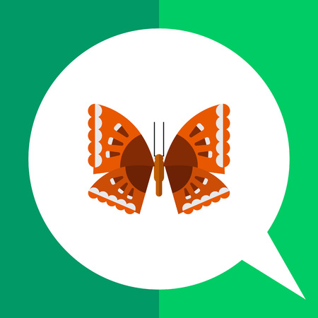 arthropods: Multicolored vector icon of butterfly with grey and brown spots
