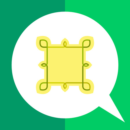 square shape: Multicolored icon of Celtic knots of square shape Illustration