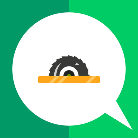 circular saw: Multicolored vector icon of circular saw
