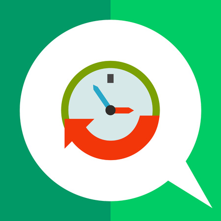 event planning: Clock with arrow. Hurry, event, date. Time concept. Can be used for topics like business, management, finance, planning.