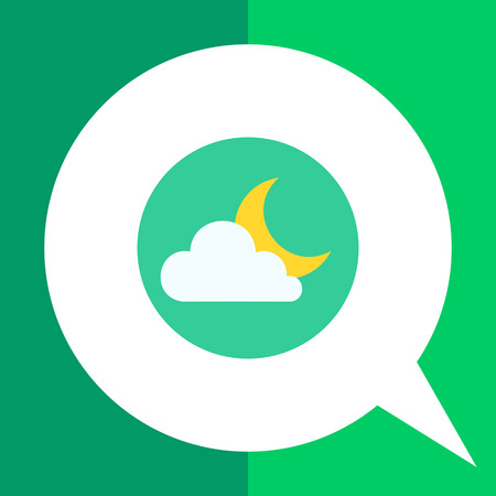 predicting: Icon of cloud and moon Illustration